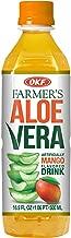 OKF Aloe Vera Drink in 16.9 Ounce Bottles (Mango, 6 Pack)