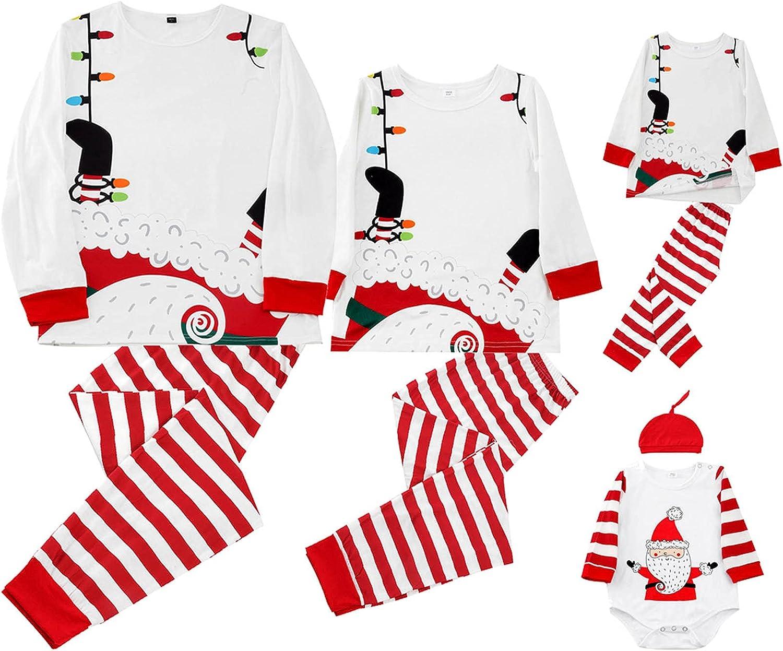 Womens Mens Sleepwear Holiday PJ Sets Christmas Pajamas Family Matching Pajamas Set 2 Piece Comfy Sleepwear