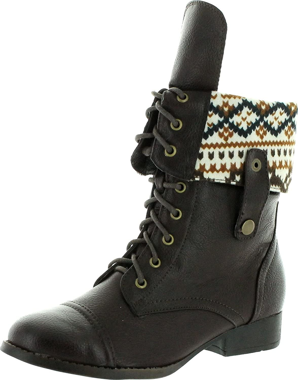 Dbdk Womens Sharper-1 Fold Down Fashion Boots,Brown,7