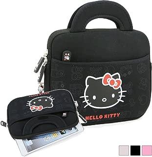 Phenix-Color Hello Kitty Little Bear Bag Sleeve Case for Ipad 2 3 4 / iPad Air / iPad Air2 Google Nexus Hp Touchpad Motorola Xoom, Smasung Galaxy Tab 10.1V, and any 10.1inch or less Tablet (Pattern Black)