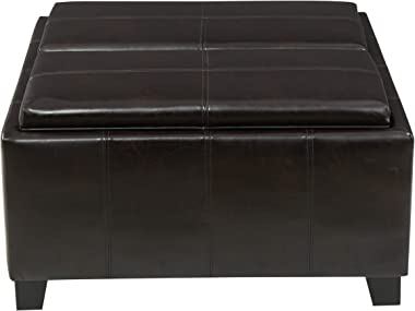 Christopher Knight Home Mansfield PU Storage Ottoman, Brown