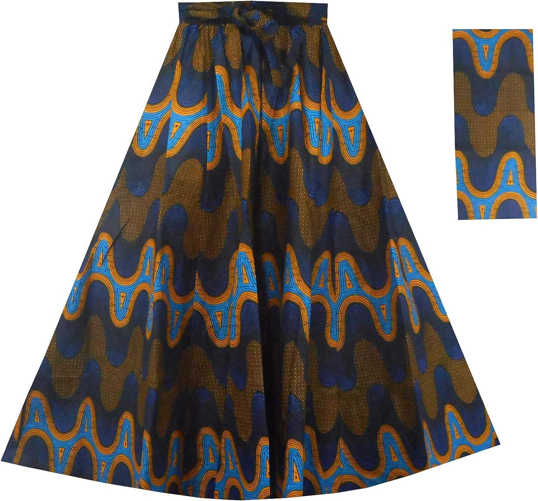 Decoraapparel African Wax Skirts Long Dashiki Maxi Skirts One Size