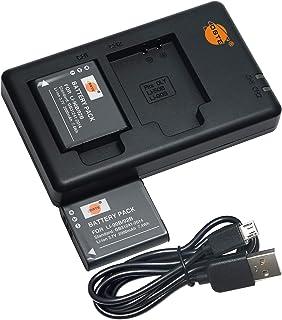 互換バッテリー DSTE LI-90B LI-92B バッテリーパック 2個(大容量 2000mAh/3.7V) + 充電器 セットUSB 急速充電 Olympus SH-1 SH-50 iHS SH-60 SP-100 SP-100EE To...