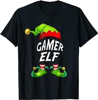 Christmas Funny Gamer Elf Shirt Gift Family Matching Tee