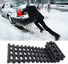 EVTIME Emergency Devices Tire TractionMats, Portablefor Snow, Ice, Mud, and SandUsed to Car, Truck, Van or Fleet Vehicle 24in
