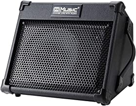 Acoustic Guitar Amplifier, 40 Watt Portable Rechargeable Amp for Guitar Acoustic with Bluetooth, 3 Channel, 3 Band EQ, Black