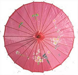 JapanBargain S-2169, Kid's Size Chinese Japanese Oriental Parasol Umbrella 22-inch, Hot Pink Color