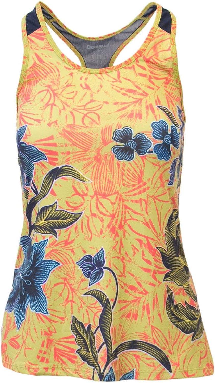 Desigual Women's 18WOTK07YELLOW Yellow Polyester Tank Top