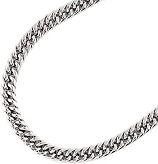 JFSG 316L Stainless Steel Flat Curb Cuban Chain Necklace For Men Or Women 7mm 18 to 24 Inches