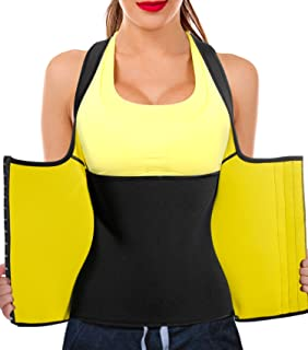 Junlan Women Neoprene Waist Trainer Vest Corset Tank Top Sauna Body Shaper Weight Loss