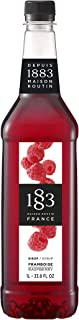 1883 Maison Routin - Raspberry Syrup - Made in France - Glass Bottle | 1 Liter (33.8 oz)