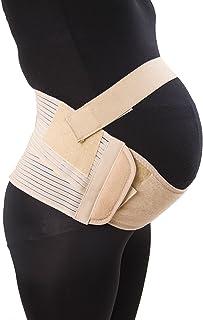 Aaram Women Breathable Maternity Belly Belt/Adjustable Dual Support Pregnancy Waist Elastic Prenatal Band Brace Medium (3...