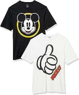 Amazon Essentials Disney Star Wars Marvel-Camiseta de Cuello Redondo de Ajuste Holgado Hombre, Pack de 2