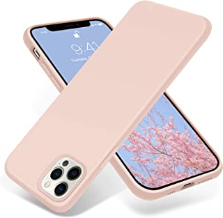 OTOFLY iPhone 12 Pro Maxケース ソフト タッチ シリコンケース 薄型 超軽量 指紋防止 全面保護 耐衝撃カバー スマホケース iPhone 12 Pro Maxケース 対応 (ピンクサンド)