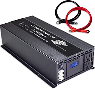 $289 » Sponsored Ad - Cumsetzer 2500 watt Power Inverter Pure Sine Wave Inverter 12v to 110v 120v, 2 US sockets and hardwire Term...