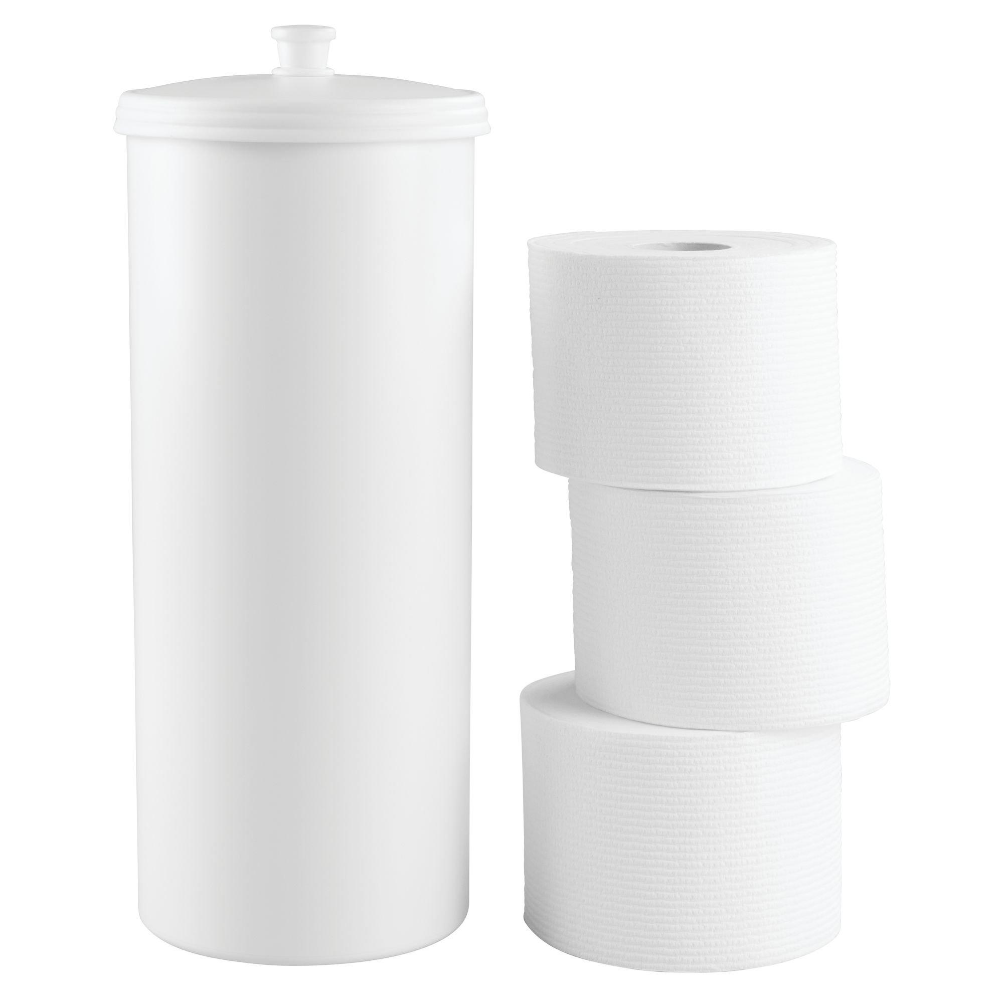 Interdesign Kent Free Standing Toilet Paper Roll Holder For Bathroom Storage White Toilet Paper Holders Amazon Com Au