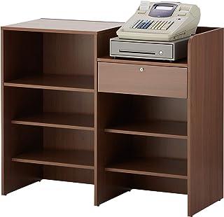 届け先法人限定 オフィスコム レジカウンター 受付カウンター セルボ 鍵付き引き出し付 木製 幅1200×奥行502×高さ1000mm レジ右側タイプ CELVO-REGCO-W-R
