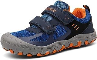 Mishansha أحذية المشي في الهواء الطلق للأولاد شبكة متماسكة رياضة الرحلات، المشي لمسافات طويلة، أزرق طفل كبير 5