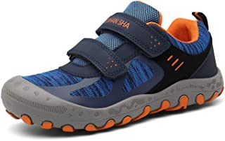 Mishansha أحذية المشي في الهواء الطلق بنين بنات شبكة متماسكة منخفضة أعلى أحذية رياضية الرحلات، المشي اللياقة البدنية الأزر...