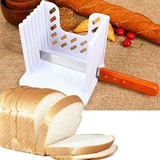 Muitar Guide de Trancheuse à pain pour pain fait maison avec pieds en caoutchouc   Machine à découper à pain - Pliable rég...