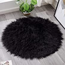 Round Cashmere Rug Bedroom Bedside Cold Warm Pad Living Room Sofa Coffee Table Mat Chair Cushion Carpet,4,45cm