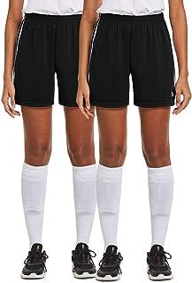 BALEAF Women's 5'' Basketball Soccer Shorts 2-Pack UPF50+...