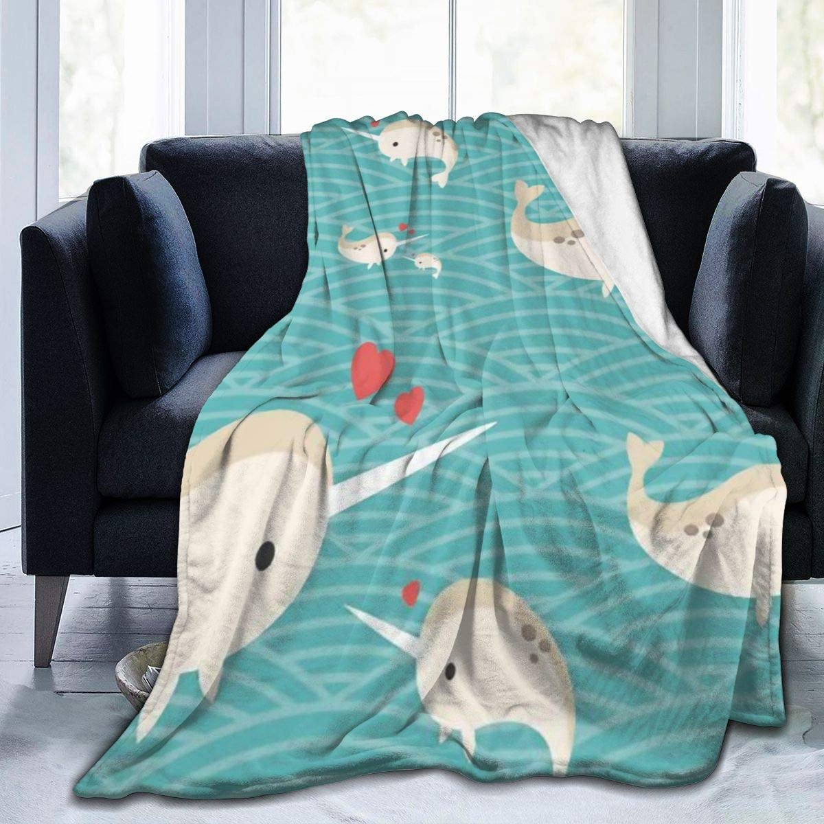 HUA JIE Manta de Lana de Franela Ultra Suave Draco-Malfoy Elegante Dormitorio Sala de Estar Sof/á Manta c/álida