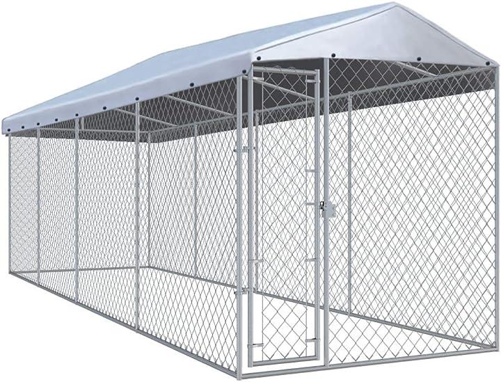 Canile da esterno con tetto robusta sicura con serratura box 170893