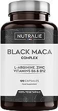Maca Negra Andina equivalente a 24.000mg por cada dosis de 1200mg con L-Arginina, Zinc y Vitaminas B6 B12 | 120 cápsulas vegetales de Maca altamente concentrada 20:1 | Nutralie