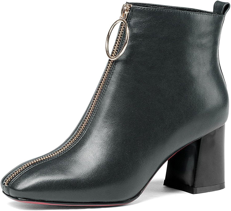 Nio Sju äkta läderskor, damernas damernas damernas fyrkantiga klackar, nätblixtar, handgjorda Comfort Ankle Booslipss.  lycklig shopping