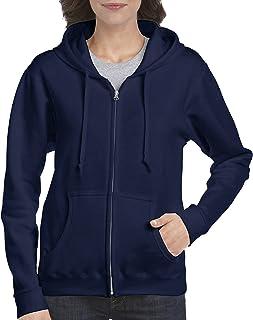 Gildan womens Full Zip Hooded Sweatshirt Full Zip Hooded Sweatshirt