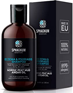Psoriasis Shampoo with Peat Mud - Natural Scalp Treatment with Argan Oil. Also Suitable for Eczema, Anti Dandruff and Derm...