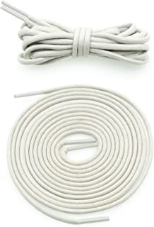 "COOL LACE Waxed Shoelaces Round Shoe Laces Bootlaces (120CM (47.2""), Ivory)"