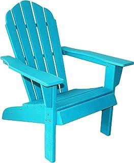 ResinTEAK HDPE Poly Lumber Adirondack Chair, Aqua Blue   Adult-Size, Weather Resistant for Patio Deck Garden, Backyard & L...