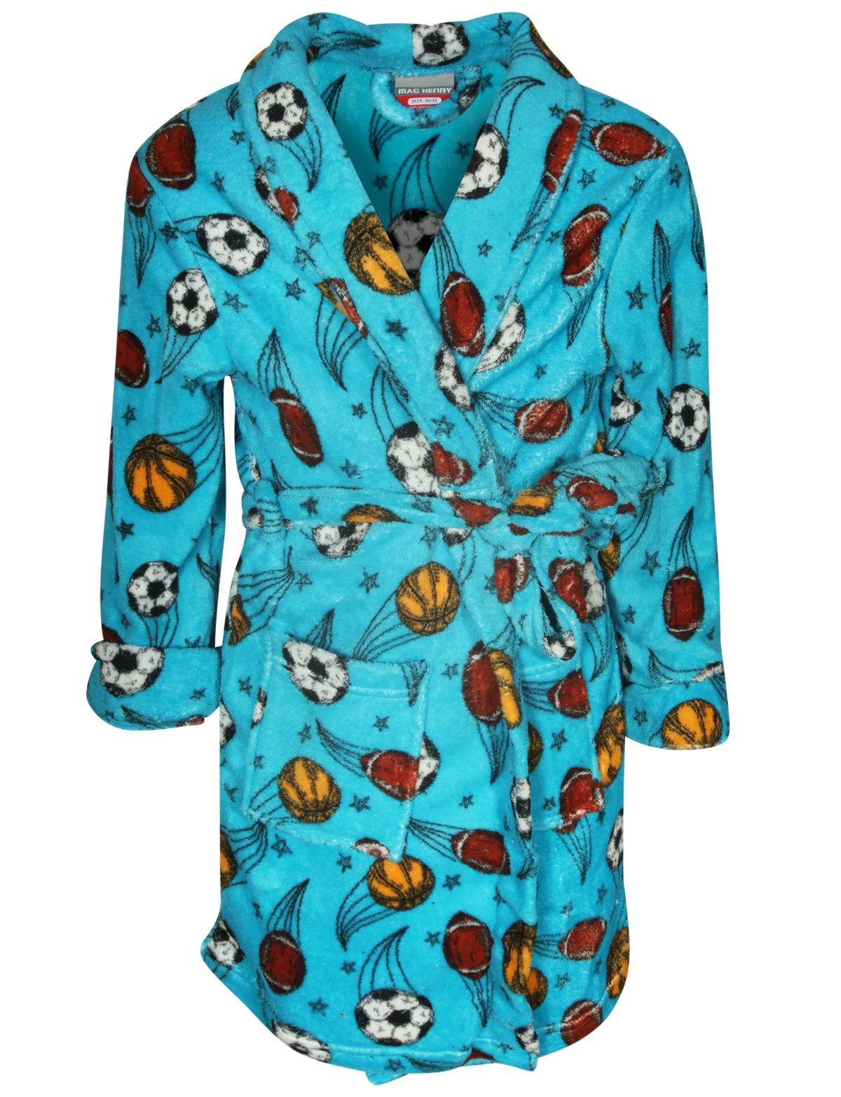 Image of Fleece Sports Bath Robe for Boys - Football, Basketball, Soccer