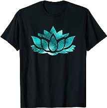 Lotus Flower Yoga Spiritual Dreamy Teal Colorful T Shirt