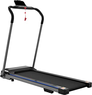 ZSQ Folding Treadmill, Electric Portable Treadmill Jogging Walking Running Machine Exercise Treadmill Compact Walking Electric Treadmill