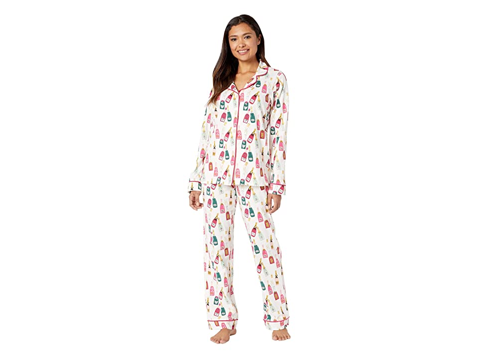 BedHead Long Sleeve Classic Notch Collar Pajama Set (Celebration) Women