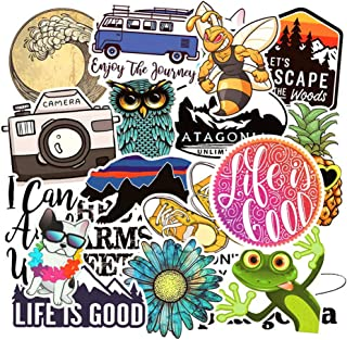Cute Water Bottle Stickers Waterproof 19 Pack,Sanmatic Funny Sticker Decals for Teens Girls Laptop,Computer,Hydro Flask Travel
