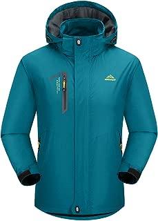 Men's Hooded Windbreaker Lightweight Soft Shell Hiking Jacket Windproof Water Resistant Raincoat