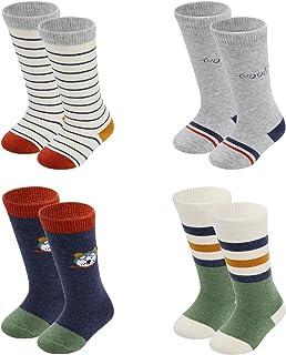 Sponsored Ad - Baby 4 Pack essentials 12-24 months long tube calf knee high socks 0-12months socks for Kids gift set ,Unis...