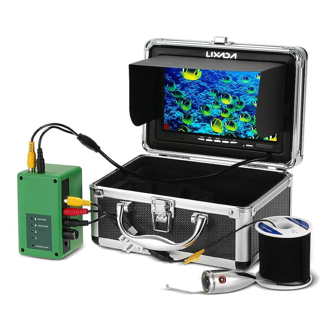 グラディス内訳LIXADA 釣りカメラ,魚群探知機,水中釣りカメラ,イプライン検査カメラ 防水 排水管 下水道検査カメラ 6LEDナイトビジョン パ工業用内視鏡検査システム 7インチ液晶モニター1000TVL 20mケーブル