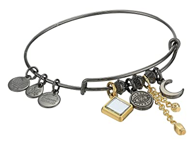 Alex and Ani Evil Eye Cluster Bangle, Two-Tone (Midnight Silver) Bracelet