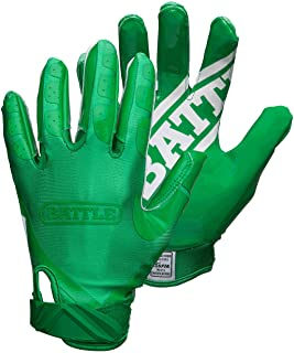 Battle Gloves – Football Double Threat Ultra-Tack Sticky Palm Receivers Receiver Pro-Style