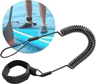 Yueser Leash de Surf 2 pi/èces Pied de Planche de Surf Corde avec Connecteur Pivotant pour Stand Up Paddle Board Flexible Confortable