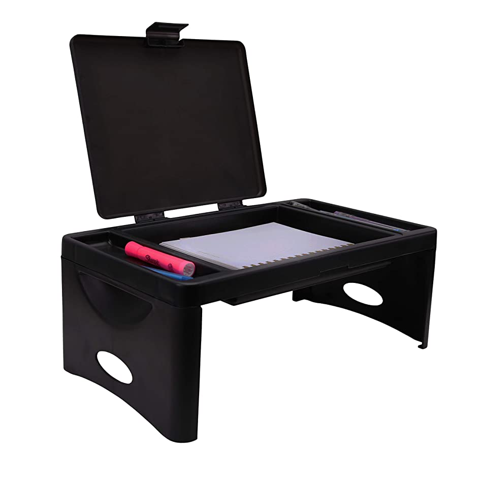 Foldable Lap Desk with Storage Pocket | Perfect use for Laptops, Travel, Breakfast in Bed, Gaming and Much More!