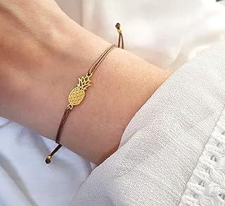 ANANAS Armband Damen 925 Silber vergoldet