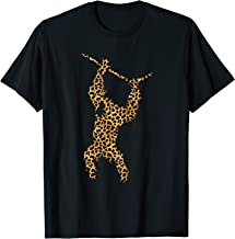 Chimpanzee Leopard Print Monkey Ape Animal Lover Women Gift T-Shirt