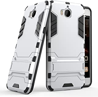 Case for Huawei Y5 2017 / Y6 2017 (5 inch) 2 in 1 Shockproof with Kickstand Feature Hybrid Dual Layer Armor Defender Prote...