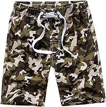 Echinodon Jongenszwembroek met binnenslip voor kinderen, camouflage, sweatshort, vakantie, strand shorts